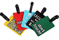 Soft PVC Travel Hard Plastic Luggage Tags Top Grade Raw Materials Non Toxic